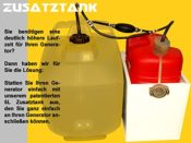 Zusatztank 5 Liter Volumen